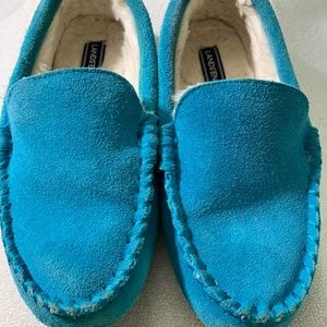 Girls Size 4 Lands' End Sherpa Slippers